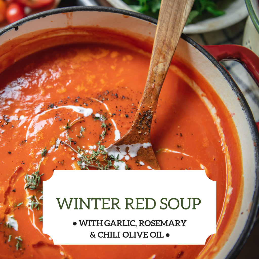 Winter Soup with Olivus Floris Extra Virgin Olive Oil
